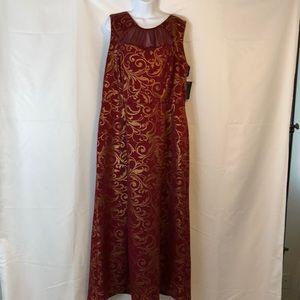 Evening Gown Burgundy And Gold  En Focus Studio